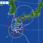 台風の進路が大変です。いなだ栗農園の影響は?
